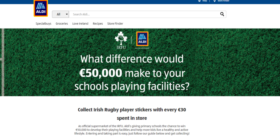 We need your help for the Aldi Rugby Competition