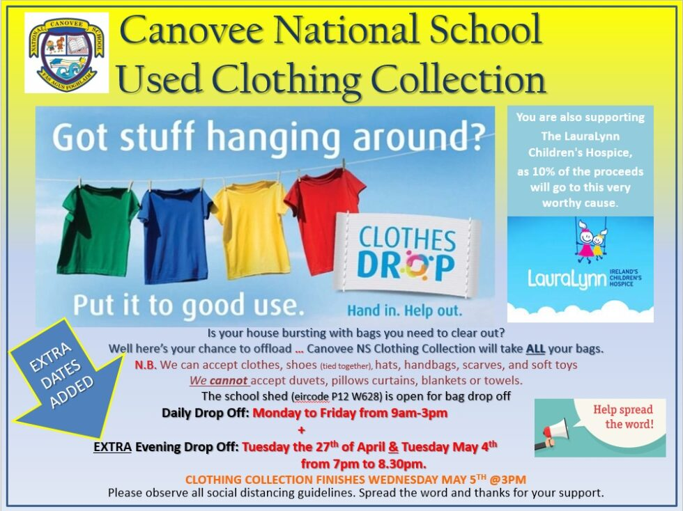 Please support our fund raising clothing collection!
